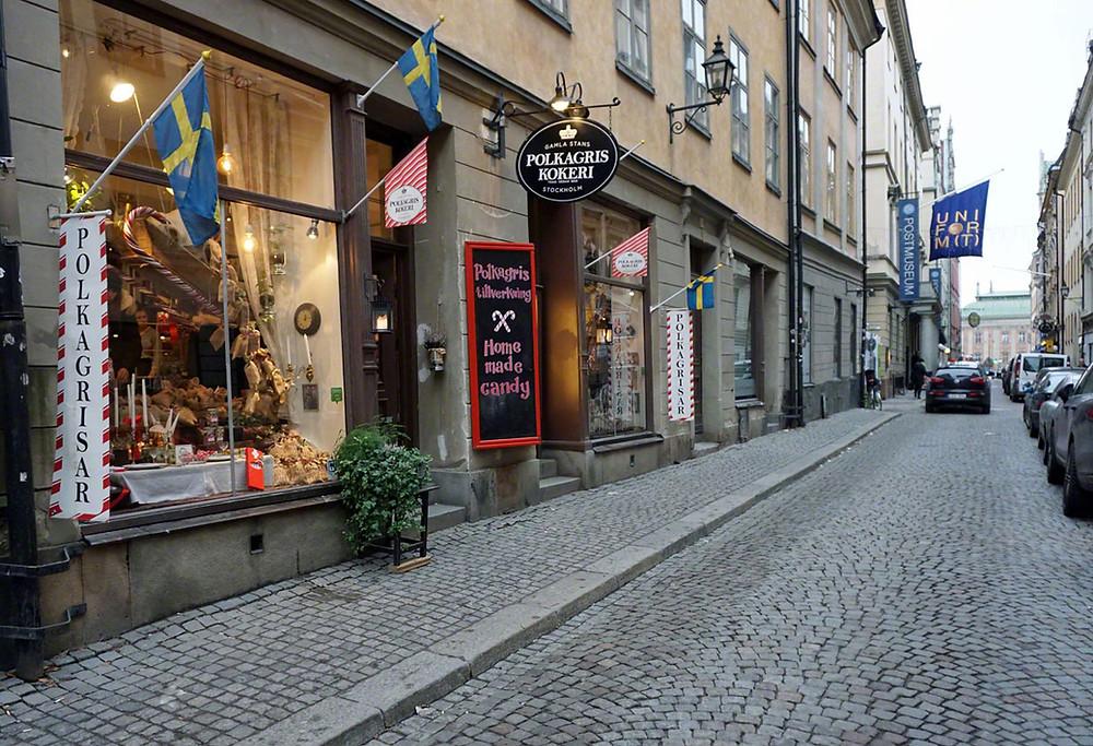 Polkagris kokeri i Stockholm