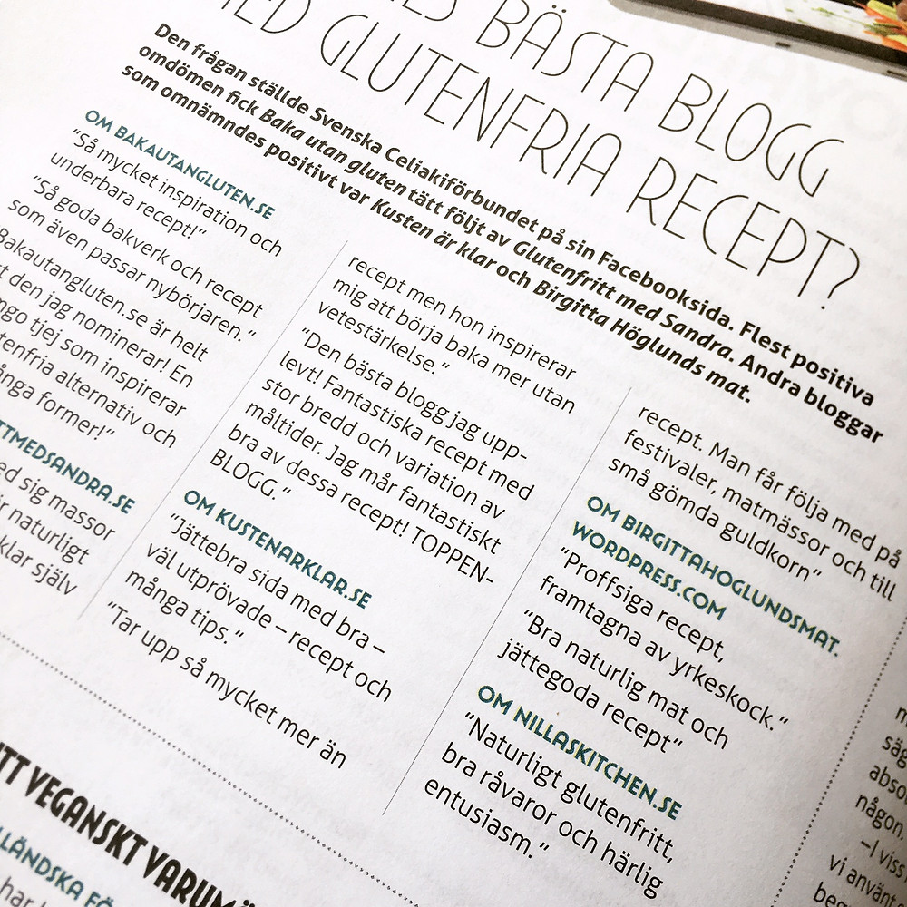 Sveriges bästa glutenfria blogg