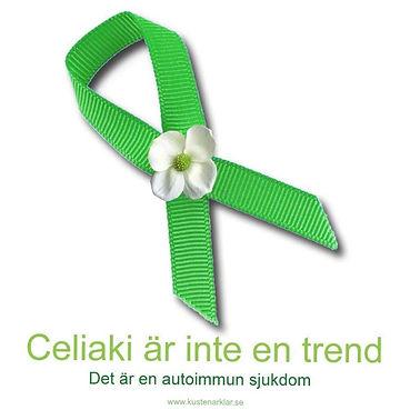 Grön rosett för Internationella Celiakidagen