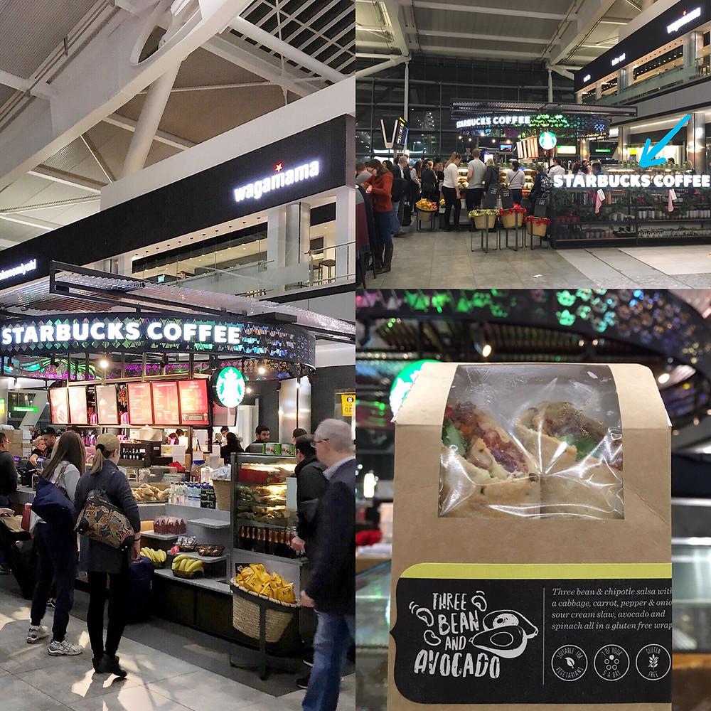 Glutenfritt på Heathrow Airport - Starbucks coffee