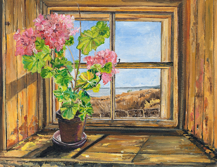 Geraniums on the Window Sill