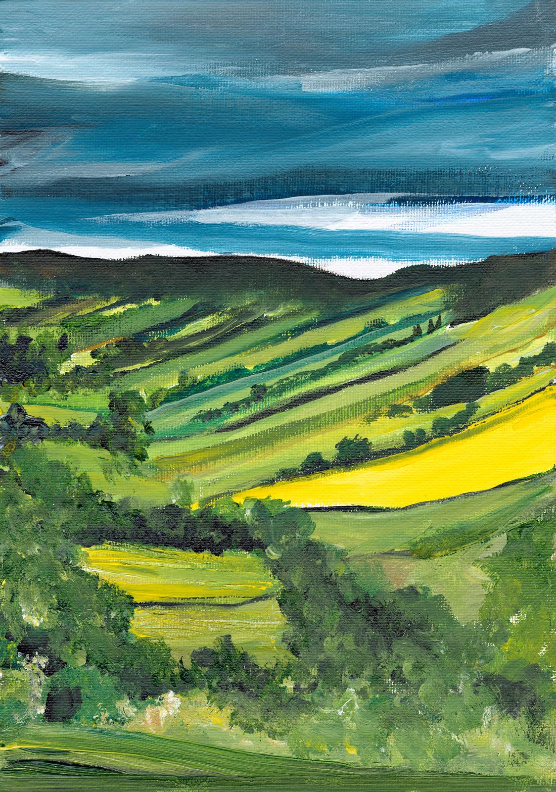 Yellow Fields by Laura Walker