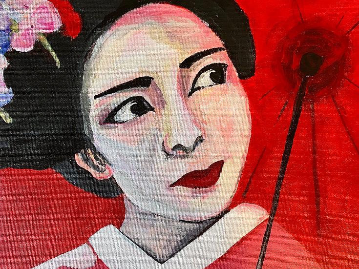 Geisha and Parasol
