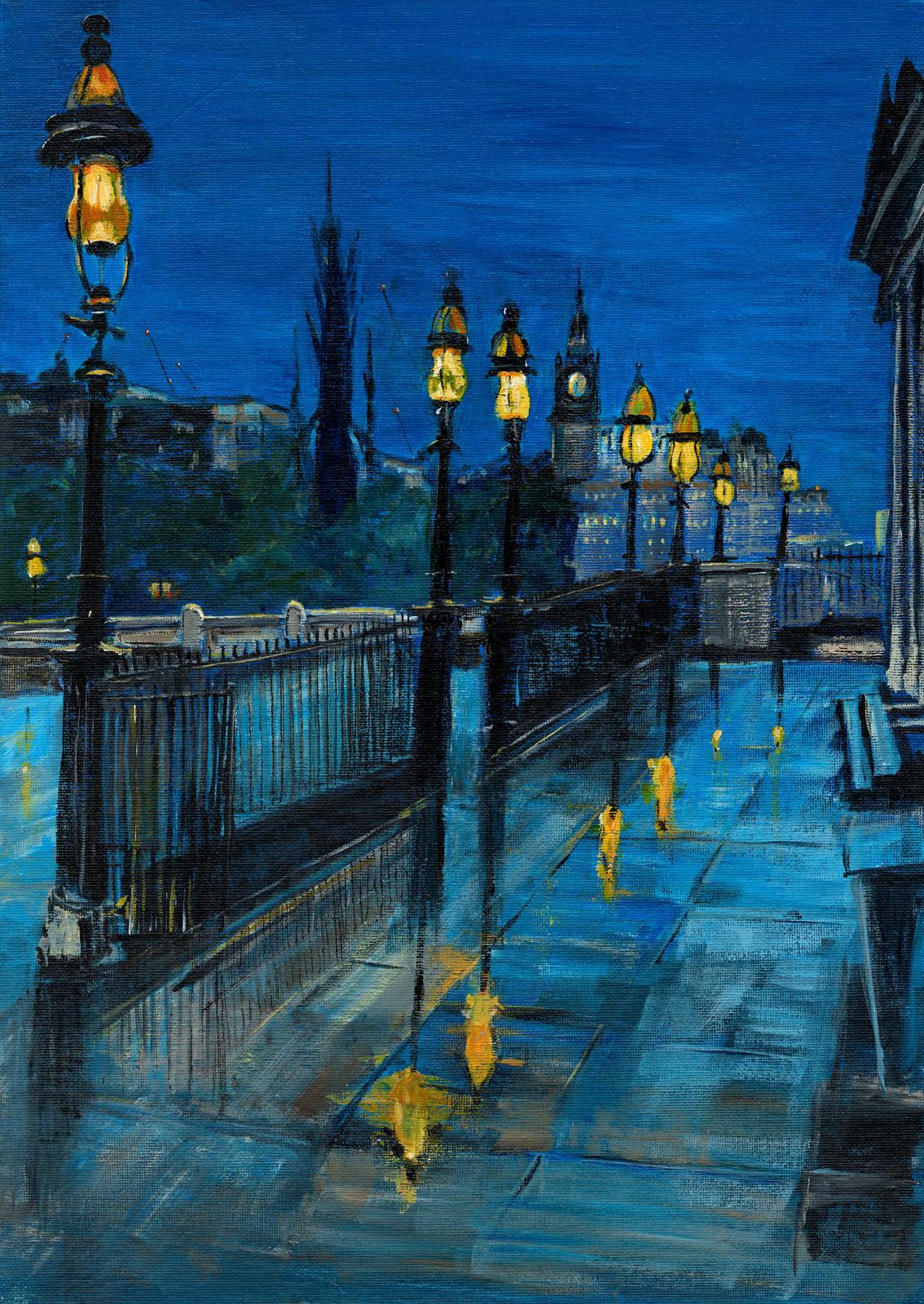 Blue Hour Lights, Edinburgh