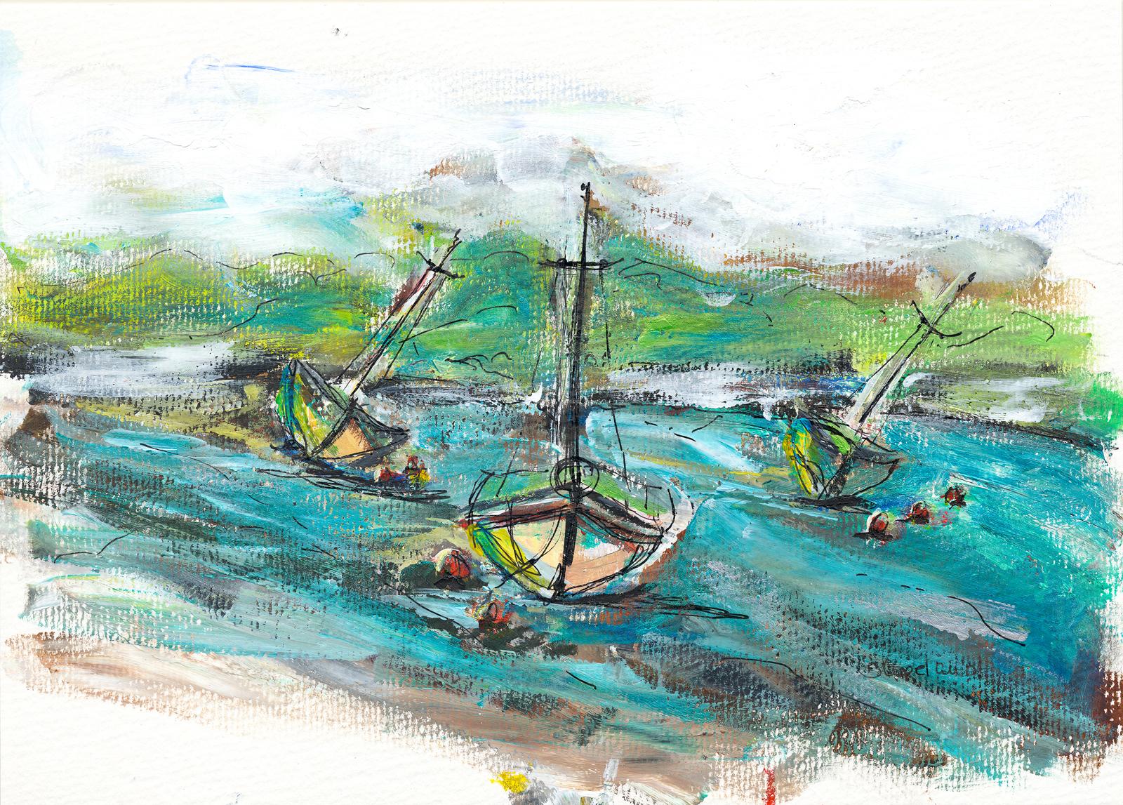 Mudflats Boats at Kirkcudbright