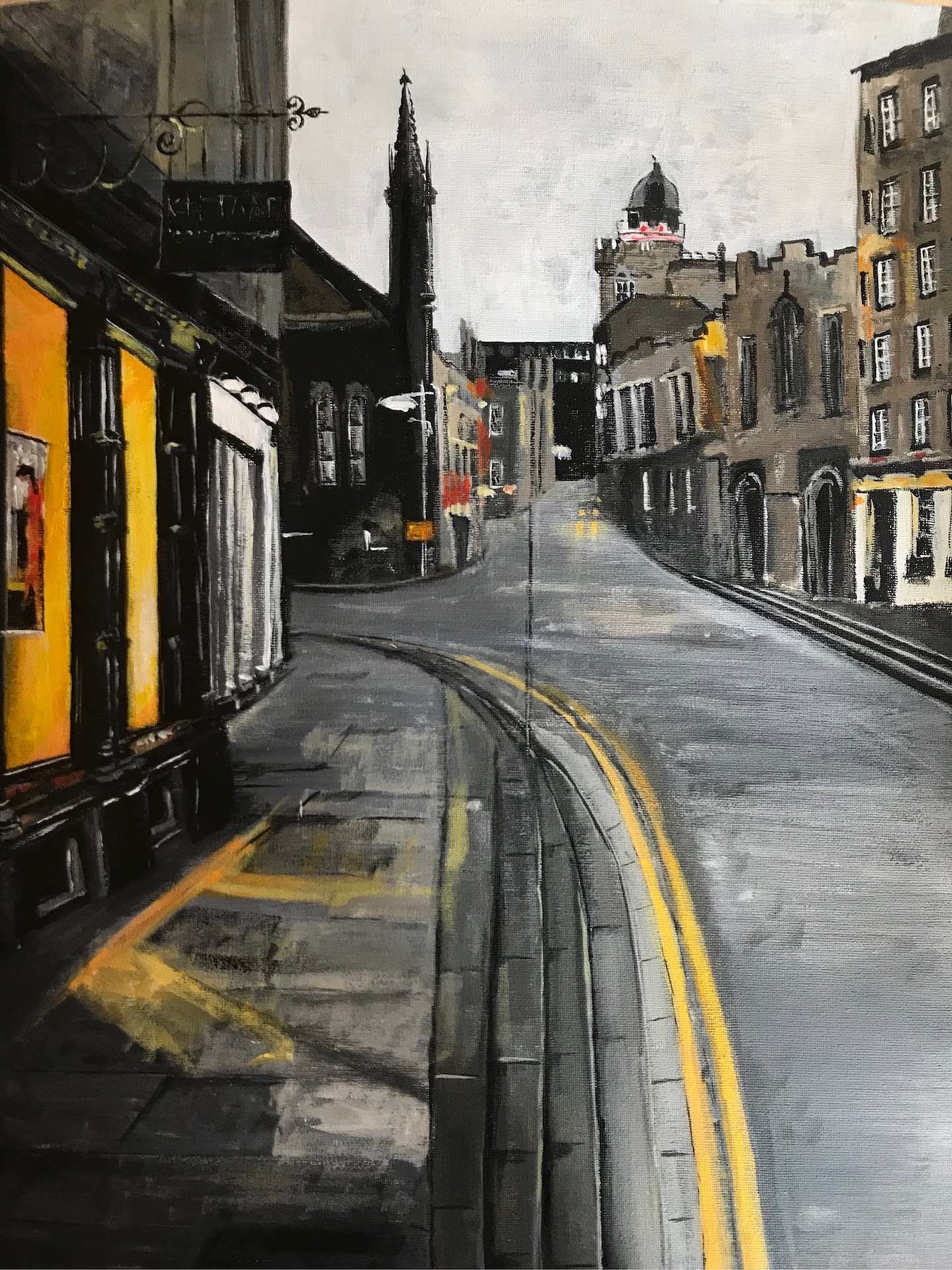 Yellow Lines, Royal Mile, Edinburgh