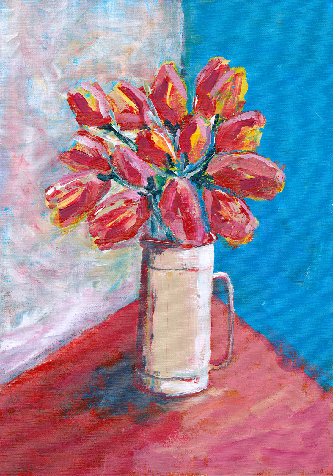 Abstract Tulips by Deborah Copeland