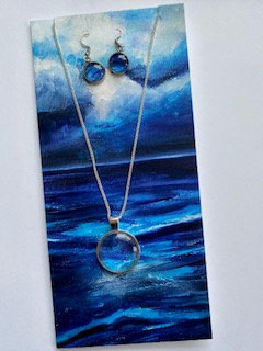 Greeting Card, Pendant & Earring Gift Set