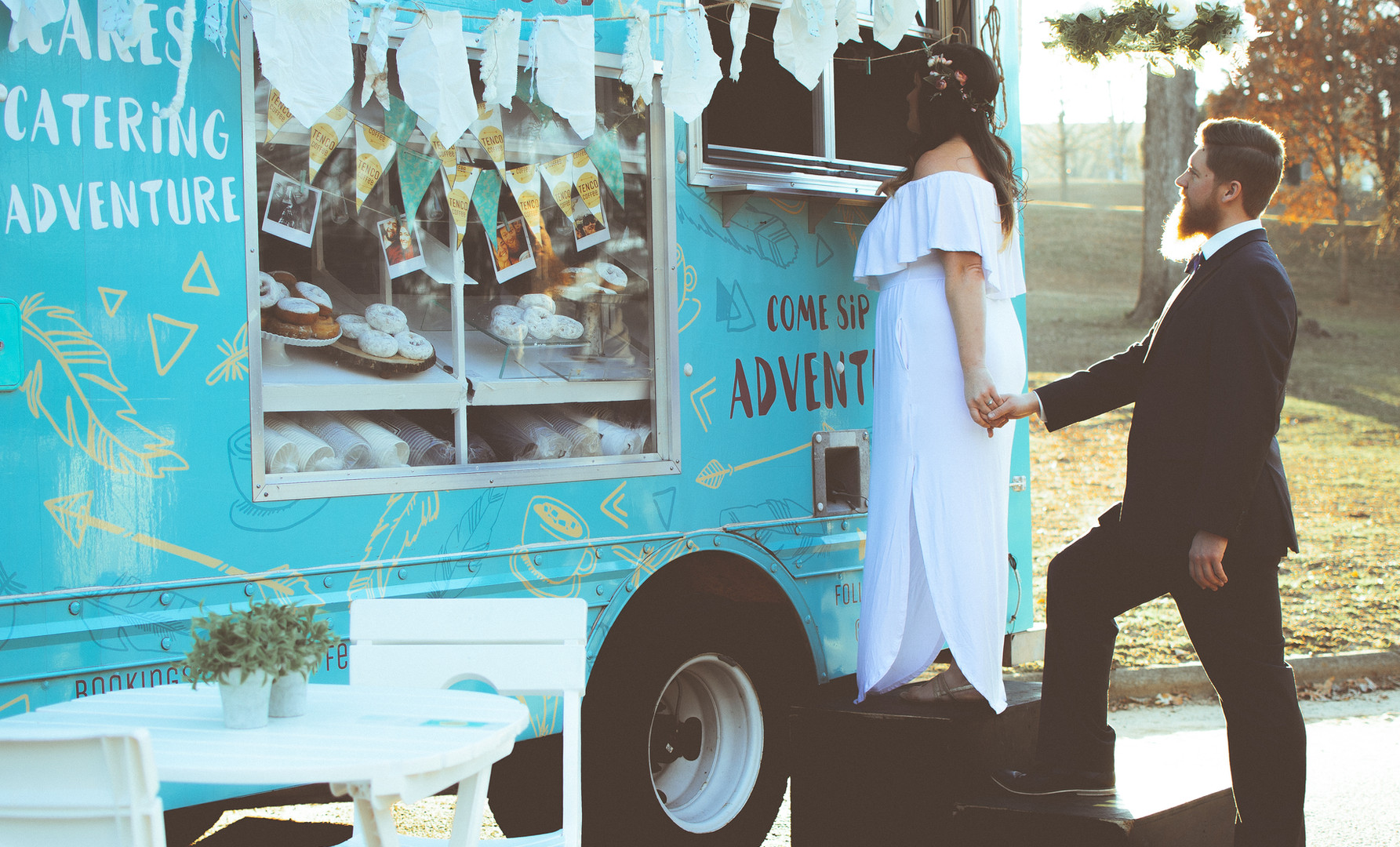 Our truck makes the perfect addition to your wedding reception.