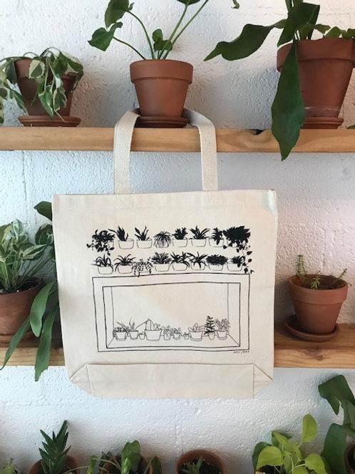Canvas Tote Bag - window scene