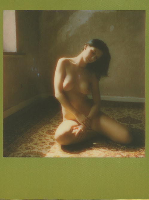 Polaroid COLOR Gold Frame Nude Art