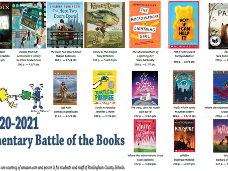 Attention Rising 4th and 5th Graders: Battle of the Books Titles for 2020-2021 Available Here!
