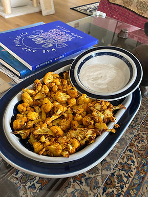 Indian Spiced Roast Cauliflower and Dipping Sauce