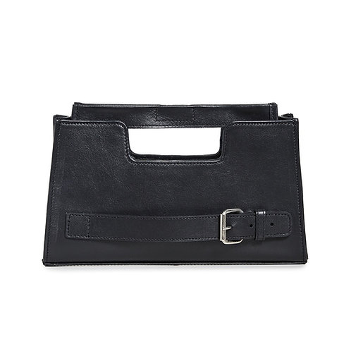 Imah Clutch Black Nappa- Small