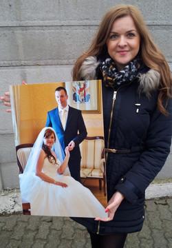 svadobné foto na stenu.