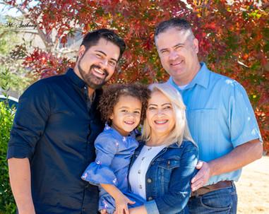 family of 4 taking family photos - Belton Texas