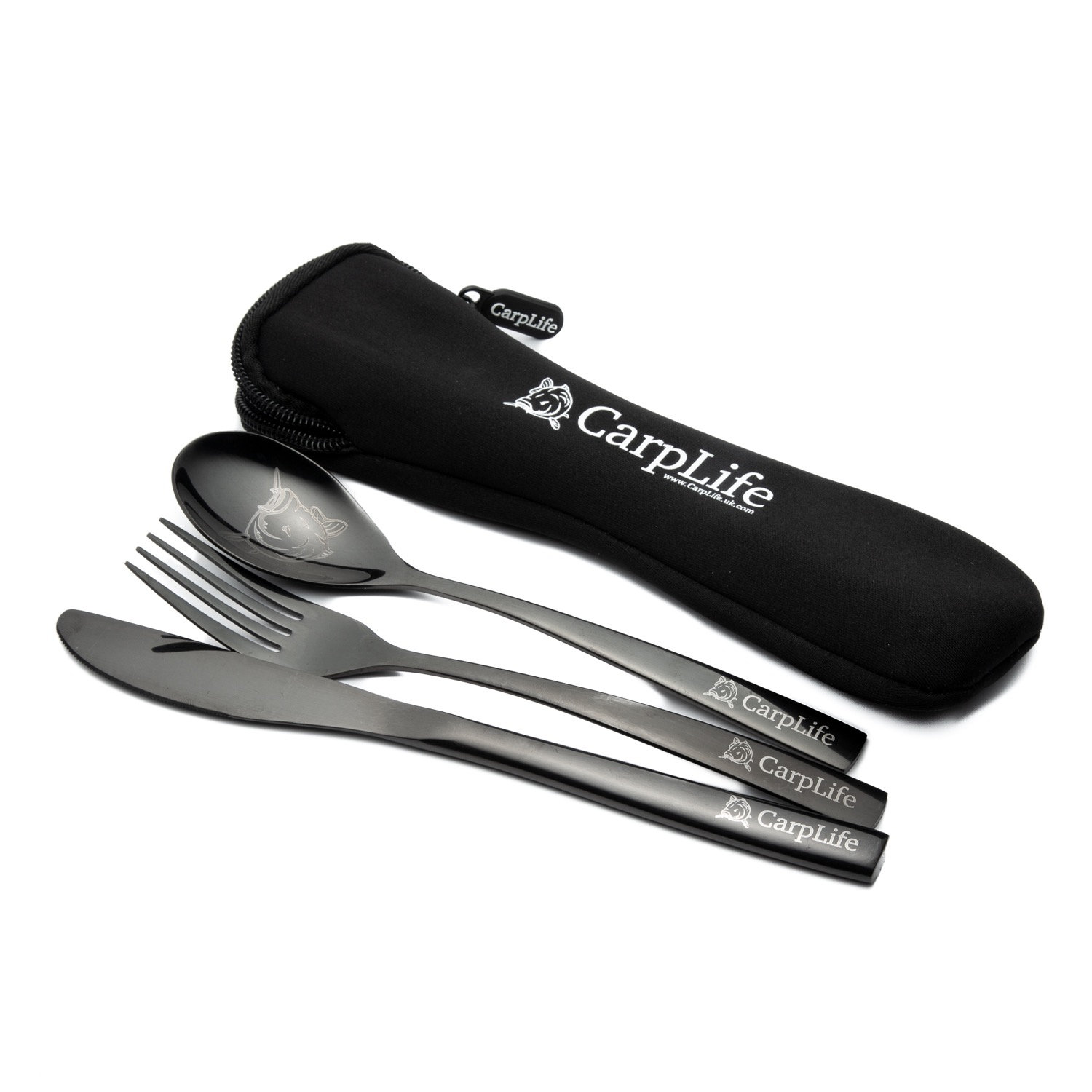 Black Etched Stainless Steel Cutlery Set Carplife Products