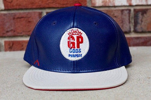 Blue, Red and White Flat Bill Snap back Hat