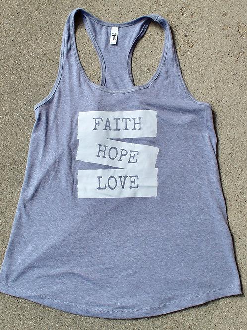 Faith, Hope & Love Racerback Tank