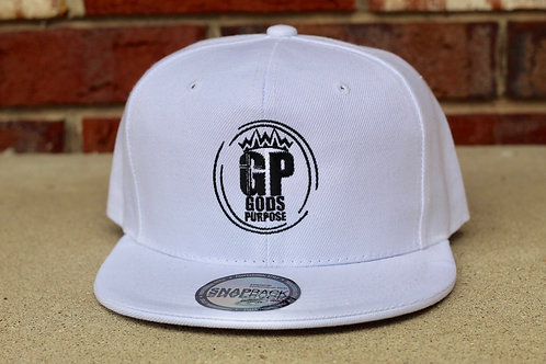 White Flat Bill Snap Back Hat