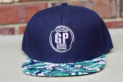 Pink and Blue Flatbill SnapBack Hat