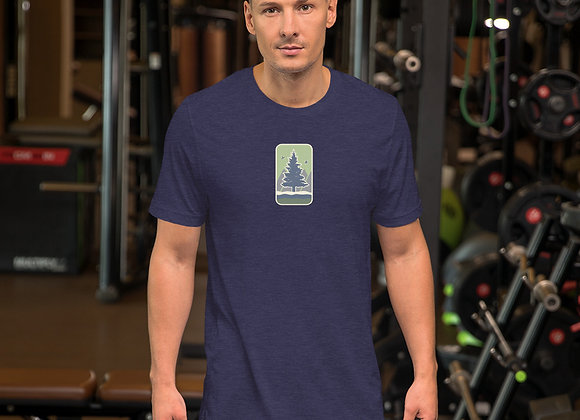 Green Center Short-Sleeve Unisex T-Shirt