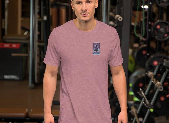 Purple Logo Short-Sleeve Unisex T-Shirt