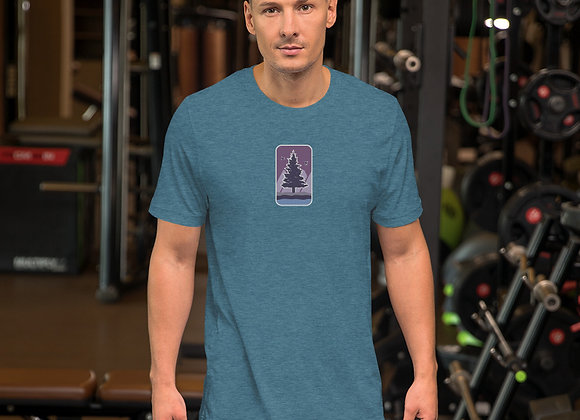 Purple Center Short-Sleeve Unisex T-Shirt