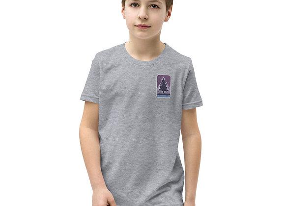 Purple Logo Youth Short Sleeve T-Shirt