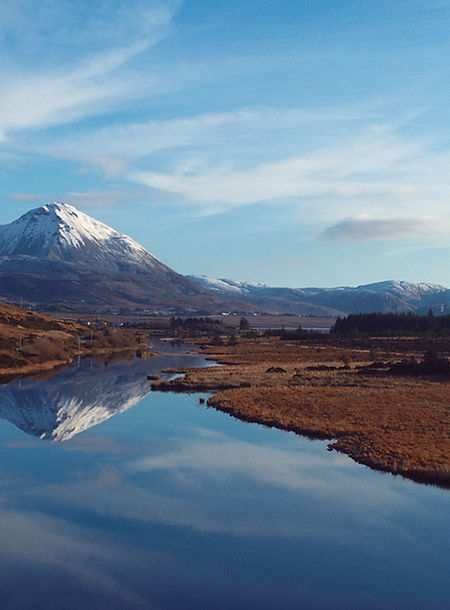 Errigal Mountain in Donegal Shot with a DJI Phantom 4 Pro