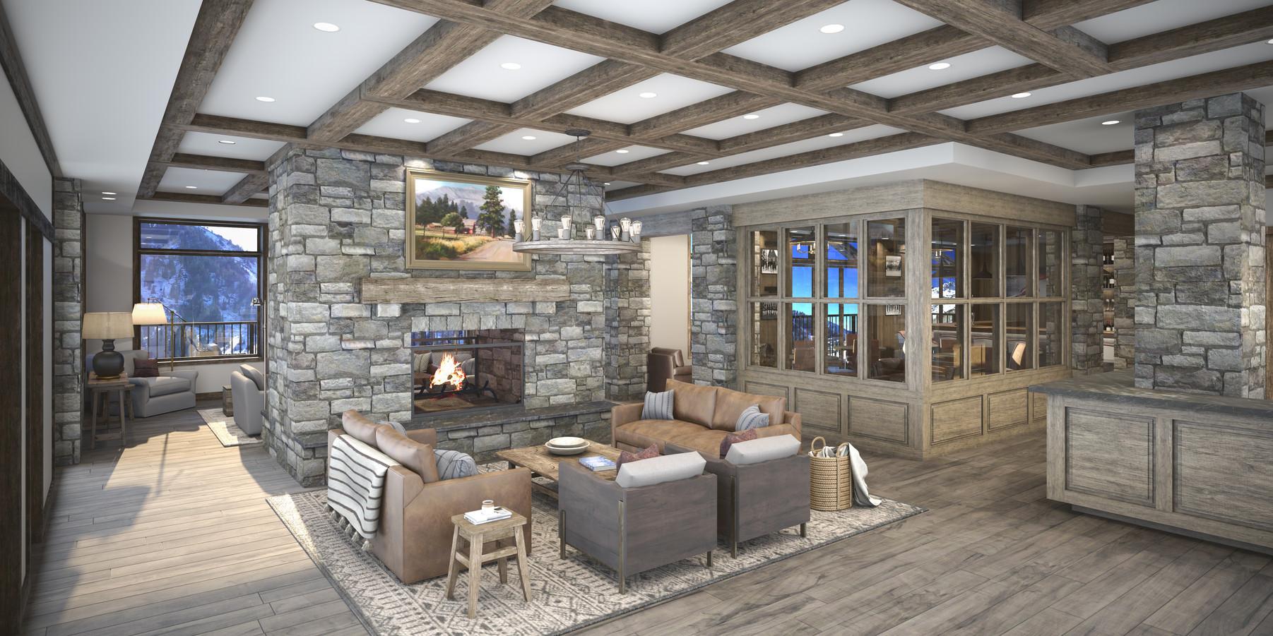 The Snowpine Lodge Lobby