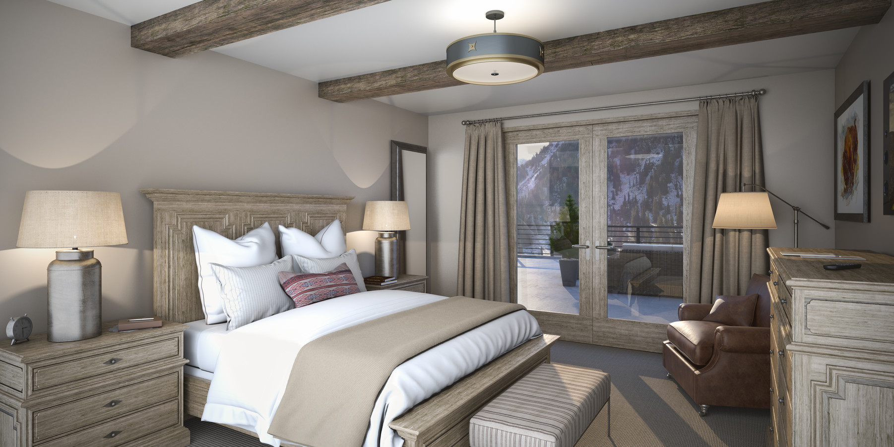 02.The Snowpine Lodge Guestroom