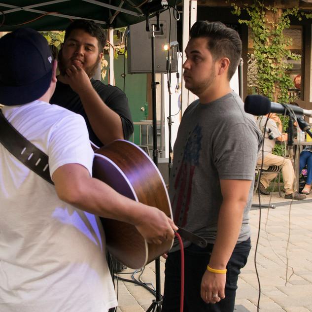 Pre-show huddle