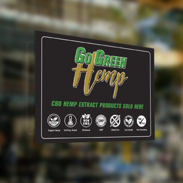 CBD Window Cling