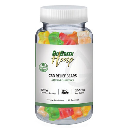 CBD Infused Relief Bears 10mg | 20 Count (200mg)