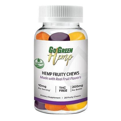 GoGreen Hemp Infused Fruity Chews 10mg