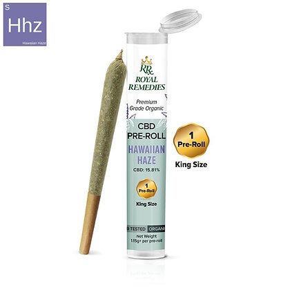 CBD Hemp Flower Pre-Roll - Hawaiian Haze 15.81% Cannabinoids