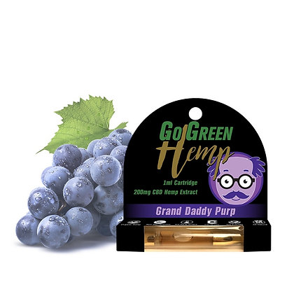 CBD 200mg Pre-Filled Cartridge Grand Daddy Purp