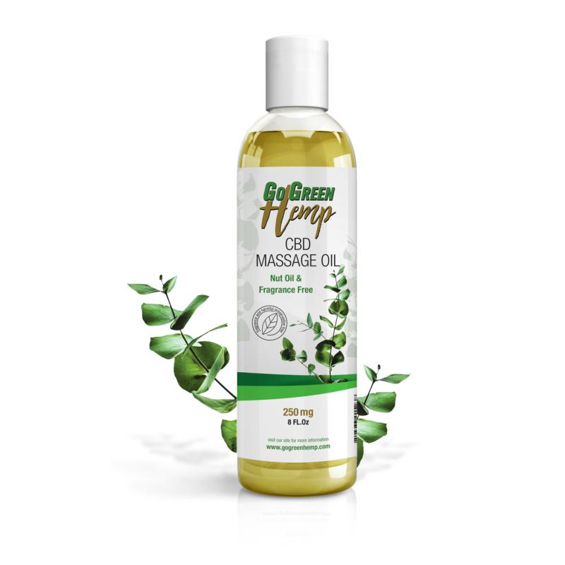 GoGreen Hemp CBD Massage Oil