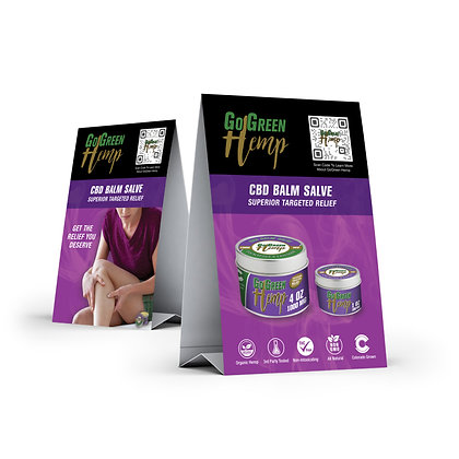 GoGreen Hemp Balm Salve Table Tent (Free With First Order Upon Request)
