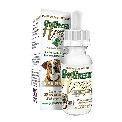 GoGreen Hemp Pet Tincture 250mg