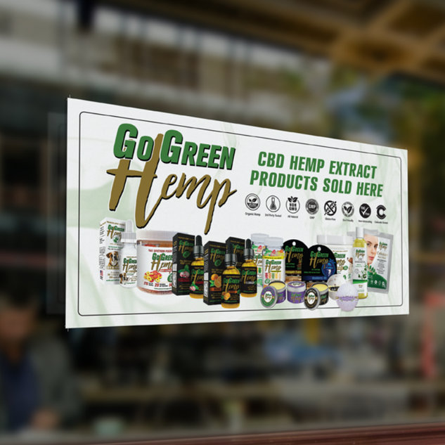 GoGreen Hemp Window Cling