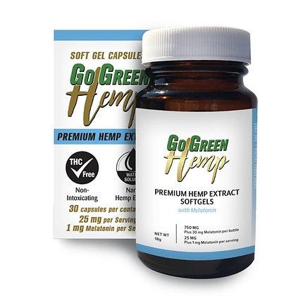 GoGreen Hemp Softgels With Melatonin 25mg