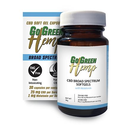 CBD Soft Gel Capsules WithMelatonin 25mg CBD | 1mg Melatonin