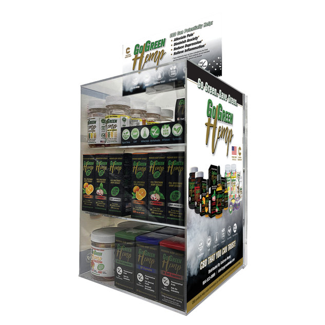 GoGreen Hemp Display Case CBD