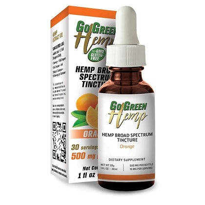 GoGreen Hemp Orange Oil Tincture Drops