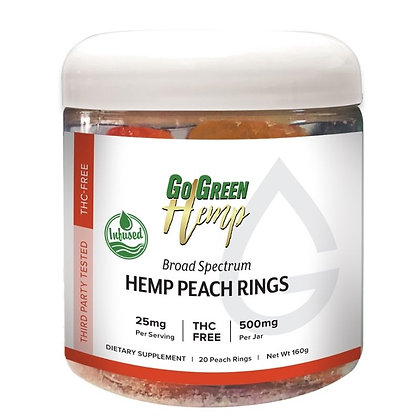 GoGreen Hemp Peach Rings 25mg