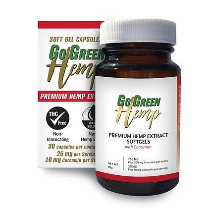 GoGreen Hemp Softgels With Curcumin 25mg