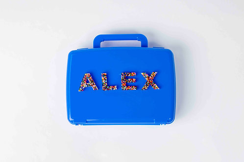 Personalized Carrying Case with Alphabet Set