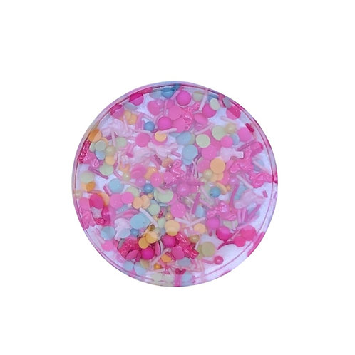Resin Coaster with Flamingle Filling